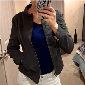 EXPRESS Zippered Denim Moto Jacket
